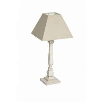 Lampe avec chapeau crème Antic Line -SEB12406