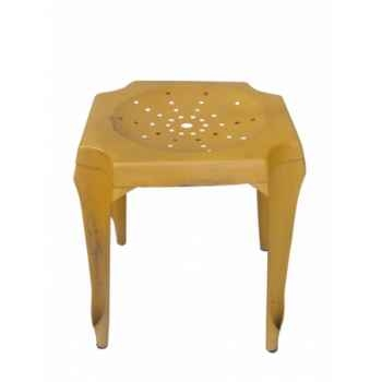 Tabouret de cuisine jaune Antic Line -CD511