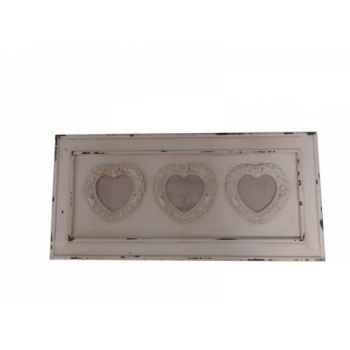 Cadre triple coeur Antic Line -SEB13676