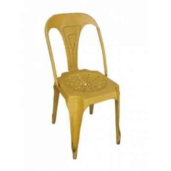 Chaise jaune Antic Line -CD488
