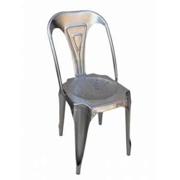 Chaise fer naturel acier Antic Line -CD514