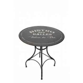 "Table ronde \""bistro des halles\"" Antic Line -SEB10192"