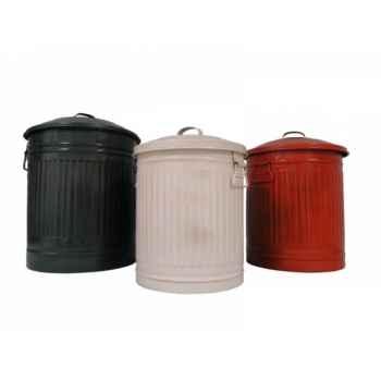 Set de 3 poubelles Antic Line -SEB13440