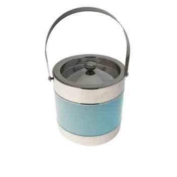 Seau à glace bleu-inox Antic Line -SEB12092