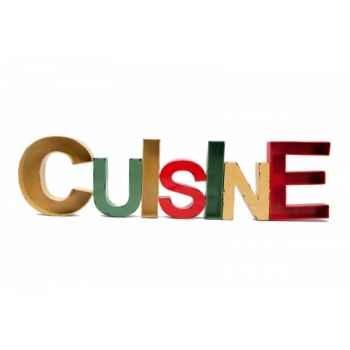 Mot cuisine coloré vintage Antic Line -SEB11738