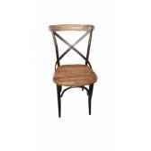 chaise industrielle fer et bois dossier ouvert antic line cd502