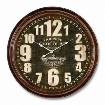"Pendule \""fabrique de chocolat\"" 62 cm Antic Line -SEB12953"