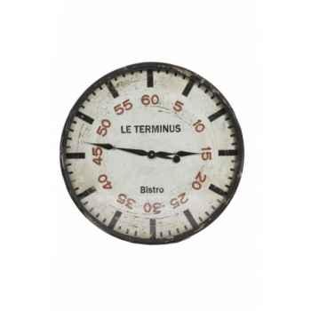 """Pendule \""""bistro terminus\"""" Antic Line -SEB12285"""
