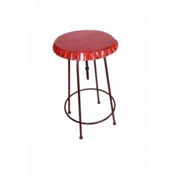 Table haute plateau capsule rouge Antic Line -SEB12333