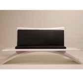banc design vagance blanc matelas gris art mely am24
