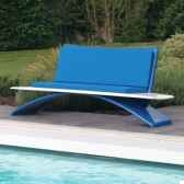 banc design vagance bleu blanc art mely am22