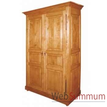 Armoire 2 portes démontable (penderie + étagères) Antic Line -CA10