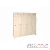 armoire facon vestiaire 4 portes antic line cd147