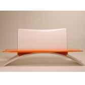 banc design vagance gris orange art mely am21