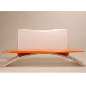Banc design Vagance gris, orange Art Mely - AM21