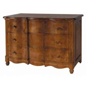 """Commode \""""arbalète\"""" 3 tiroirs (boutons bois) Antic Line -CD189"""