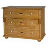 commode 3 tiroirs boutons bois antic line t38