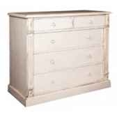 commode directoire 5 tiroirs boutons bois antic line cd22