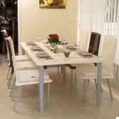 table repas design saint tropez blanche pieds laques art mely am27