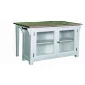 plot centraavec table 2 portes vitrees plateau bois antic line cd537