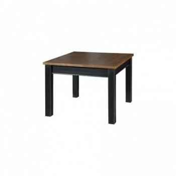 Table plateau bois 100 x 100 x 78 - Antic Line -CD256