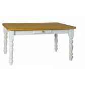 table de ferme tiroir bouton bois 100 x 100 antic line cd440
