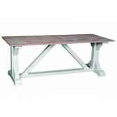 table de ferme pieds en x antic line cd541