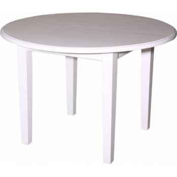 Table ronde 4 pieds + 2 allonges de 40 cms Antic Line -CD442