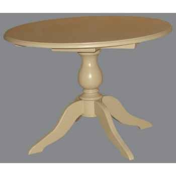 Table pied central 1 rallonge Antic Line -CD439