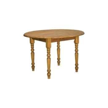 Table ronde 4 pieds + 2 allonges Antic Line -T15