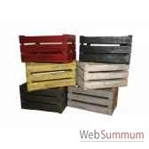 caisse en bois rouge antic line seb11600r