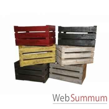Caisse en bois rouge Antic Line -SEB11600R