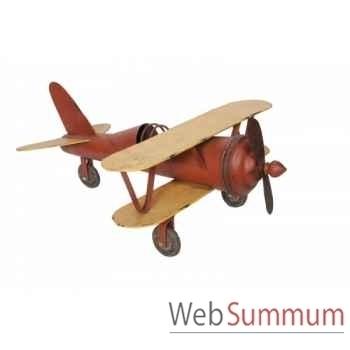 Avion rouge et jaune Antic Line -SEB12862