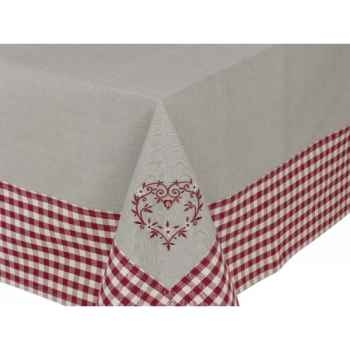 """Nappe 160 x 160 \""""collection campagne coeur\"""" Antic Line -SEB12589"""