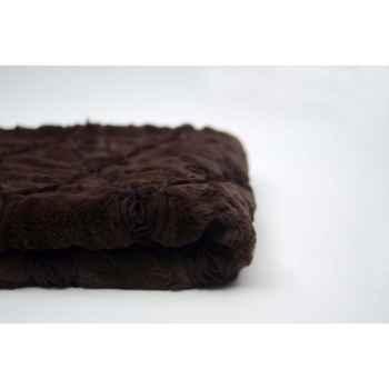 Plaid 120x150 chocolat Antic Line -SEB10431