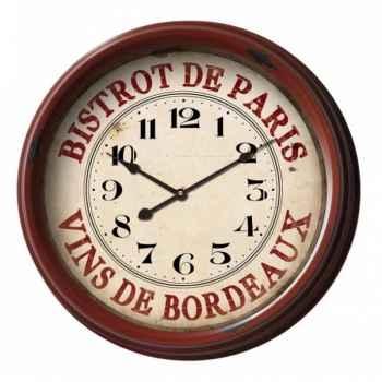 "Pendule \""bistrot de paris\"" Antic Line -SEB12959"