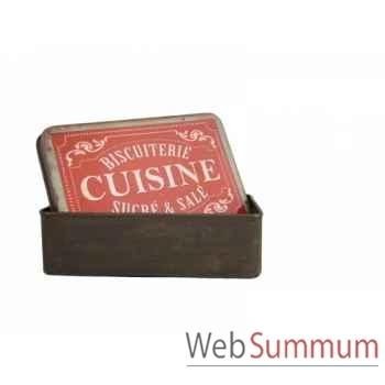 """Boîte \""""cuisine\"""" Antic Line -SEB13540"""