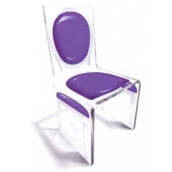 Chaise Aqua L16 Gloss Gris clair Design Samy, Aitali
