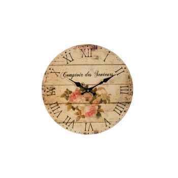 """Pendule \""""comptoir des senteurs\"""" 33 cms Antic Line -DEC7893"""