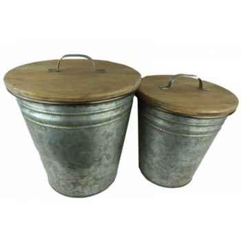 Set 2 poubelles Antic Line -SEB13020