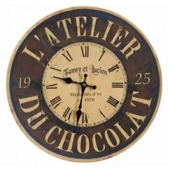 """Pendule \""""atelier du chocolat\"""" Antic Line -DEC7226"""