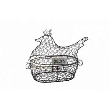 Panier poule fil de fer Antic Line -DEC9037