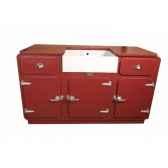 meuble evier style frigo 3 portes 2 tiroirs sans evier et sans robinet antic line cd479