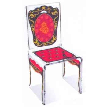 Chaise Aqua Napo Rouge design Samy, Aitali
