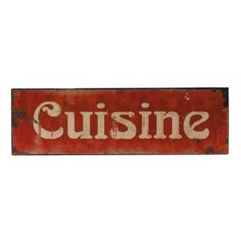 """Plaque publicitaire \""""cuisine\"""" Antic Line -DEC4932"""