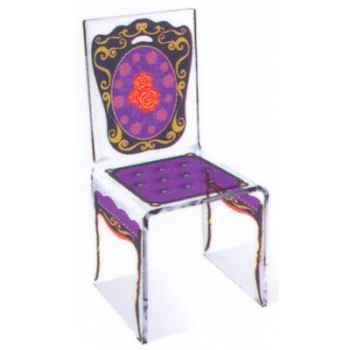 Chaise Aqua Napo Violet design Samy, Aitali