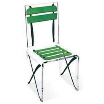 Chaise Aqua Single Terrasse Verte design Samy, Aitali