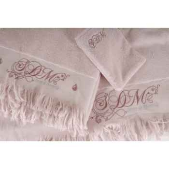 "Serviette ""romantique\"" pétale de rose 50 x 90 Antic Line -DEC8112"