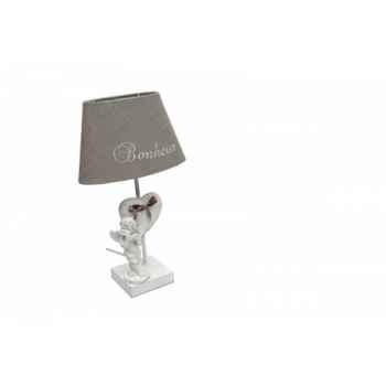 """Lampe \""""ange flûte\"""" avec chapeau brodé Antic Line -SEB11297"""