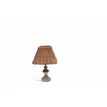 Lampe osier avec chapeau Antic Line -SEB11299